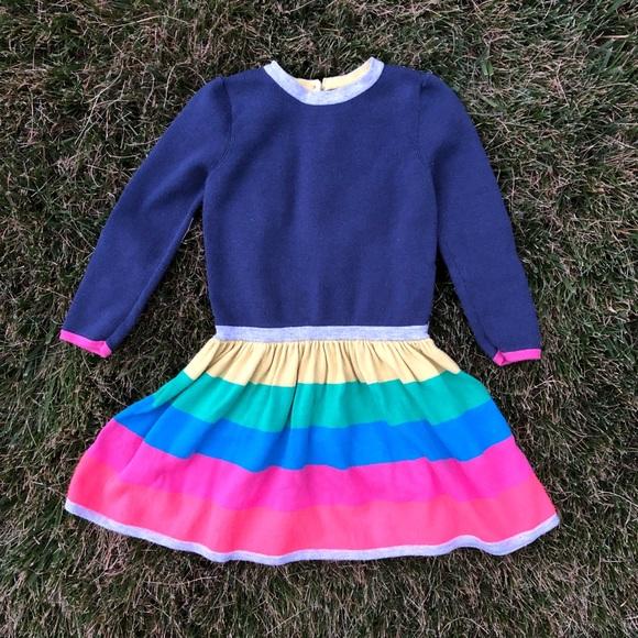 6bd72993373c Mini Boden Dresses | Knit Rainbow Dress | Poshmark
